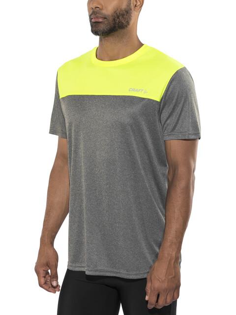 Craft Eaze Løbe T-shirt Herrer gul/grå